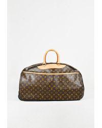"Louis Vuitton - Brown Monogram Canvas & Leather ""eole"" 60 Mm Rolling Duffel Bag - Lyst"