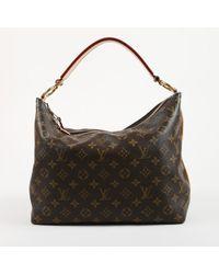 "Louis Vuitton - Brown Monogram Coated Canvas ""sully Pm"" Shoulder Bag - Lyst"