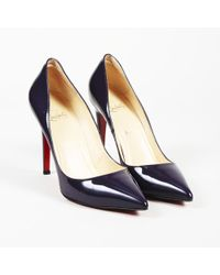 """Christian Louboutin - Patent Leather """"pigalle"""" Pointed Pumps - Lyst"""