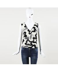 John Galliano - Floral Print Knit Top - Lyst