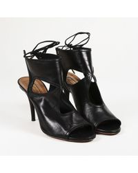 "Aquazzura - ""sexy Thing"" Leather Booties - Lyst"