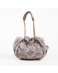 Jamin Puech - Gray Cable Knit Wool Shoulder Bag - Lyst