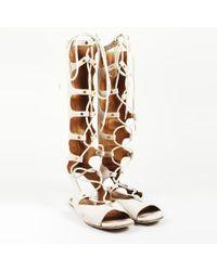 Chloé - Beige Suede Gladiator Sandals - Lyst
