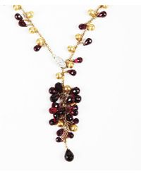 """Marco Bicego - Red Garnet Diamond & 18k Yellow Gold """"acapulco"""" Necklace - Lyst"""