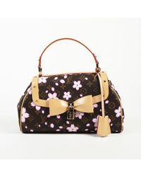 "Louis Vuitton - ""sac Retro"" Cherry Blossom Coated Canvas Bag - Lyst"