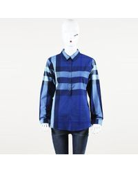 Burberry - Brit Exploded Check Button Up Top - Lyst