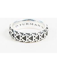 "David Yurman - Men's Sterling Silver ""frontier"" Ring - Lyst"