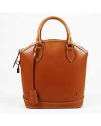 "Louis Vuitton - Brown Leather ""nomade Lockit"" Bag - Lyst"