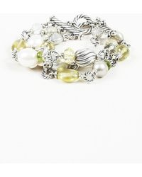 David Yurman - Pearl Peridot Quartz & Sterling Silver Bracelet - Lyst