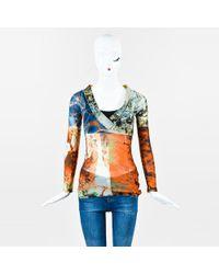 Jean Paul Gaultier - Maille Multicolor Gauze Printed Top - Lyst