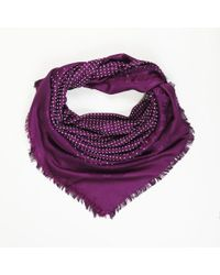 "Louis Vuitton - Monogram Wool & Silk ""pois"" Shawl Scarf - Lyst"