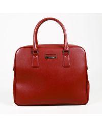 "Montblanc Red Saffiano Calfskin Crossbody ""sartorial"" Briefcase"
