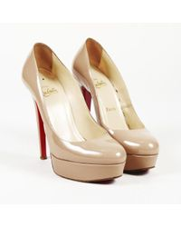 "Christian Louboutin - Patent Leather ""bianca"" Platform Pumps - Lyst"