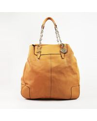 Lanvin - Yellow Leather Chainlink Handle Tote Bag - Lyst