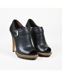 """Belstaff - Black Grained Leather """"shaftesbury"""" Peep Toe Court Shoes - Lyst"""