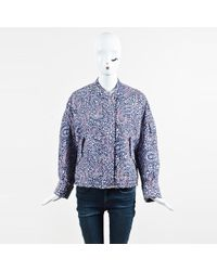 Christian Wijnants - Nwot Multicolour Nylon Paisley Quilted Bomber Jacket - Lyst