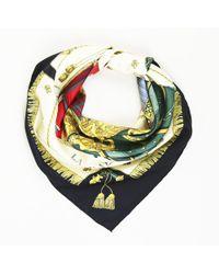 """Hermès - Silk """"vue Du Carrosse De La Galere La Reale"""" 90cm Scarf - Lyst"""