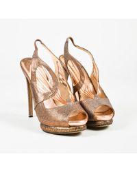 Nicholas Kirkwood - Metallic Gold Embossed Snakeskin Leather Sandals - Lyst