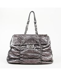 Chanel - Quilted Sharpei Leather Shoulder Bag - Lyst