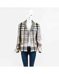Chanel - Fall 2004 Brown Multi Wool Blend Tweed Patterned Jacket - Lyst