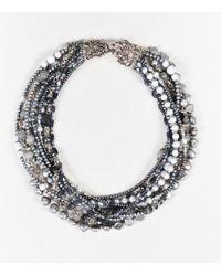 Stephen Dweck - Sterling Silver Purple Grey Pearl Gemstone Multi Strand Necklace - Lyst
