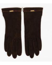 Chanel Vintage Suede Gloves
