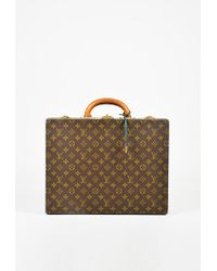 Louis Vuitton - Vintage Brown Monogram Canvas & Vachetta Leather Briefcase - Lyst
