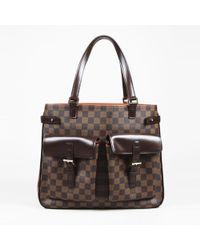 """Louis Vuitton - Brown """"damier Ebene"""" Coated Canvas """"uzes"""" Shoulder Bag - Lyst"""