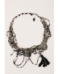 Erickson Beamon - Grey Black Multi Strand Chain Beaded Cluster Tassel Necklace - Lyst