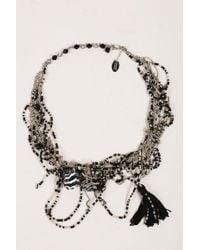 Erickson Beamon - Gray Black Multi Strand Chain Beaded Cluster Tassel Necklace - Lyst