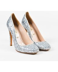 "Jerome C. Rousseau - Silver Glitter Leather ""aizza"" Court Shoes - Lyst"
