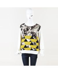 Dries Van Noten - Printed Quilted Sweatshirt - Lyst