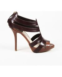 Dior - Strappy Leather Heeled Sandals - Lyst