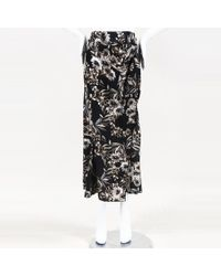 Stone Cold Fox - Floral Silk Midi Skirt - Lyst