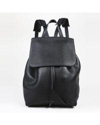 """Mansur Gavriel - Black """"tumbled"""" Leather Backpack - Lyst"""