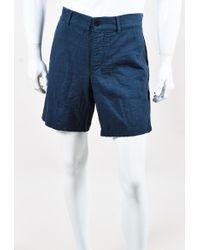 "Steven Alan - Men's Navy Cotton ""arc"" Shorts - Lyst"