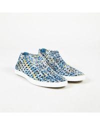 "Hermès - Blue Multi Woven ""oxygene"" Low Platform Trainers - Lyst"
