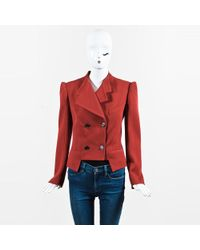 Viktor & Rolf - Red Wool Double Breasted Jacket - Lyst
