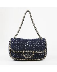 77bd72593aad7e Chanel - Blue Beige Quilted Tweed
