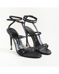 607e94bbda0c Tom Ford Patent-Leather Platform Sandals in Black - Lyst
