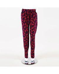 Diane von Furstenberg - Printed Silk Blend Jogger Pants - Lyst