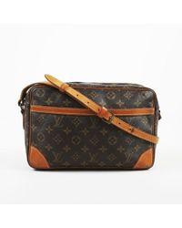 "Louis Vuitton - Vintage Brown Monogram Coated Canvas ""trocadero 30"" Shoulder Bag - Lyst"