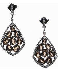 Unbranded - Nwot Smoky Quartz & Sterling Silver Teardrop Kite Earrings - Lyst