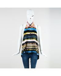 Jean Paul Gaultier - Femme Multicolor Silk Blend Printed Halter Top - Lyst