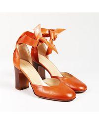 Dries Van Noten - Brown Leather Ankle Strap Pumps - Lyst