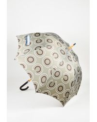 Chanel - Grey Brown & White Nylon Wood & Leather 'coco' Print Umbrella - Lyst