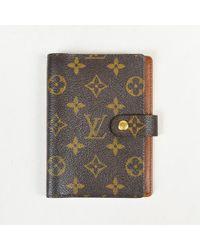 9c2592eec836 Lyst - Louis Vuitton Agenda Pm Mini Line Croisette Monogram Canvas ...
