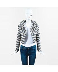 Rick Owens - Beige & Black Knit Trim Striped Cropped Jacket - Lyst