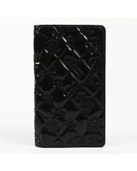 Chanel - Black Patent Leather Wallets - Lyst