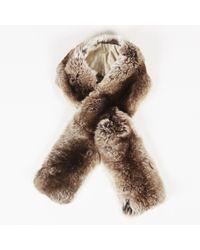 Jil Sander - Brown Chinchilla Fur Scarf - Lyst